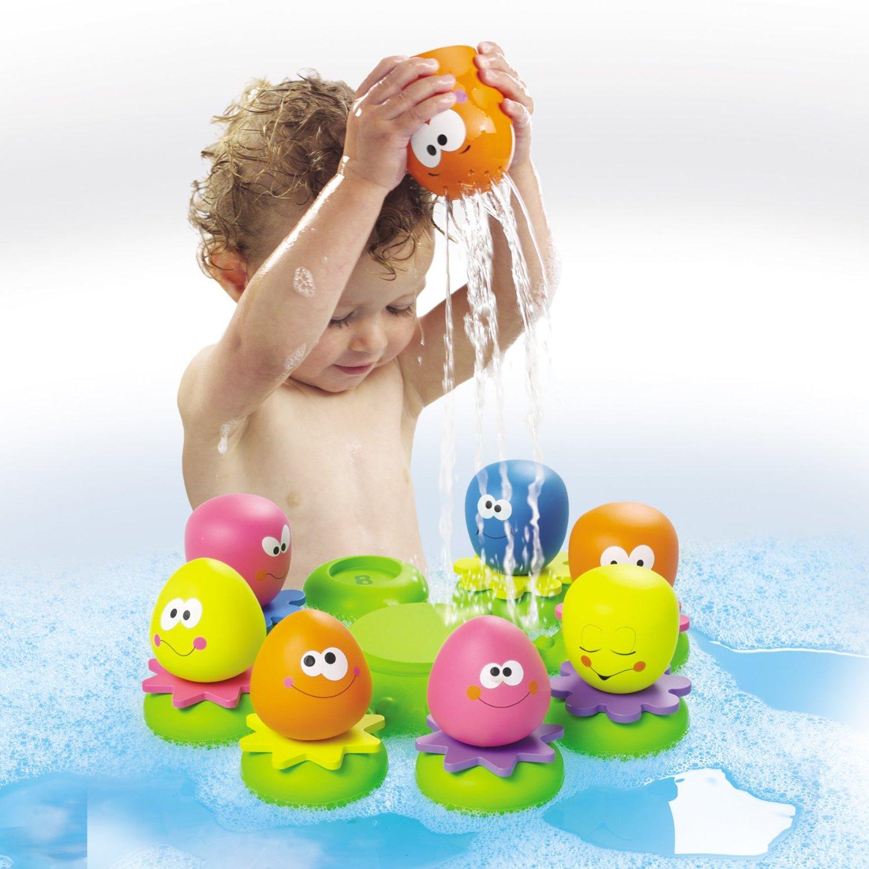 IDEAS DE REGALO para bebés a partir de 6 meses hasta 12 meses www.madreyblogger.com - Juguetes para la bañera para regalar www.madreyblogger.com