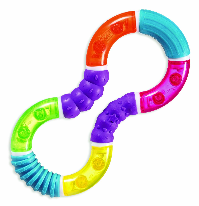 IDEAS DE REGALO para bebés a partir de 6 meses hasta 12 meses www.madreyblogger.com - Mordedor giratorio de Muchkin para aliviar los dolores de la dentición | www.madreyblogger.com
