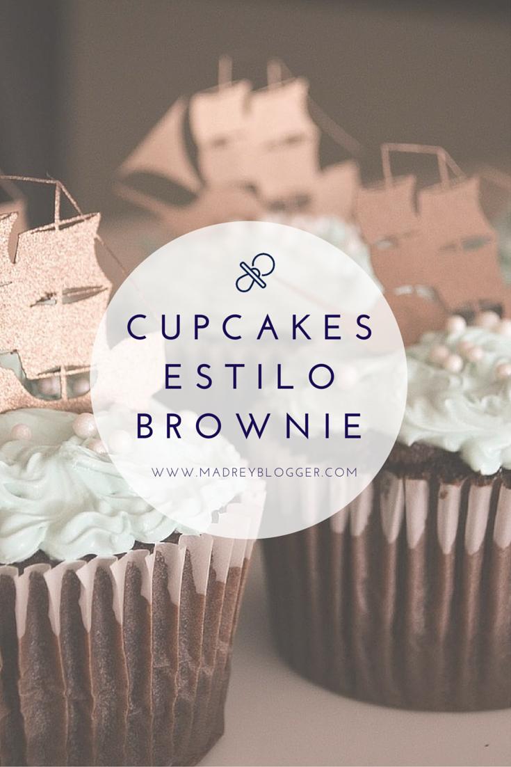 cupcakes de chocolate estilo brownie en www.madreyblogger.com