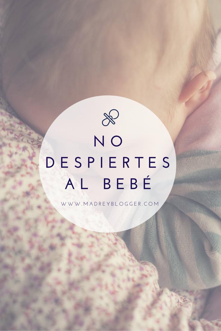 Nunca despiertes a un bebé dormido en www.madreyblogger.com