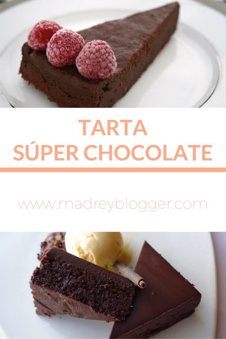 Receta de Tarta Súper Chocolate en www.madreyblogger.com
