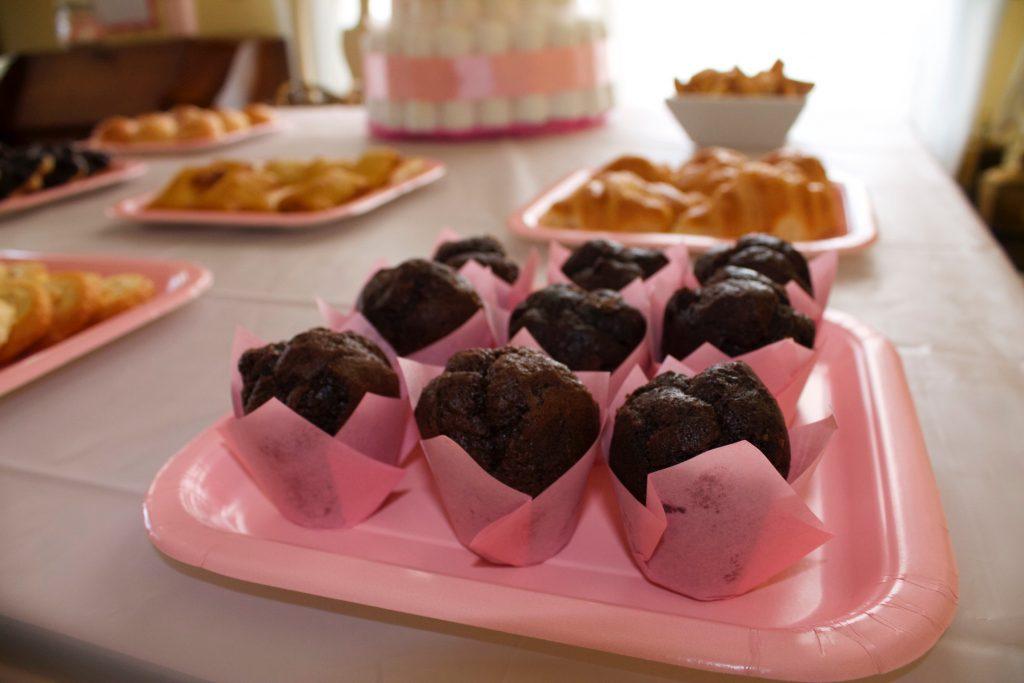 Comida y decoración rosa