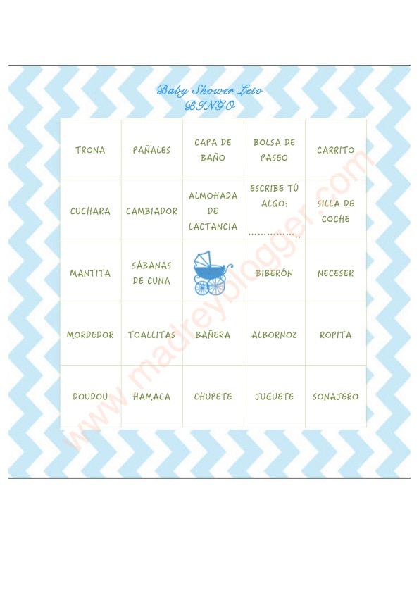 Babyshower - Bingo