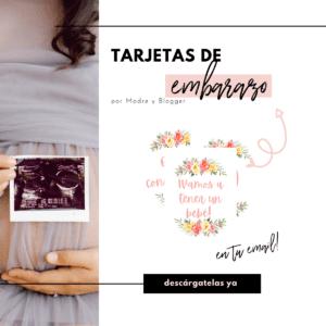 Tarjetas de embarazo gratuitas
