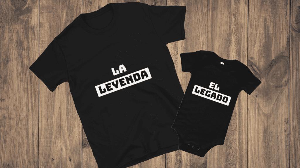 Camiseta Primer Día del Padre a Juego Papá y Bebé